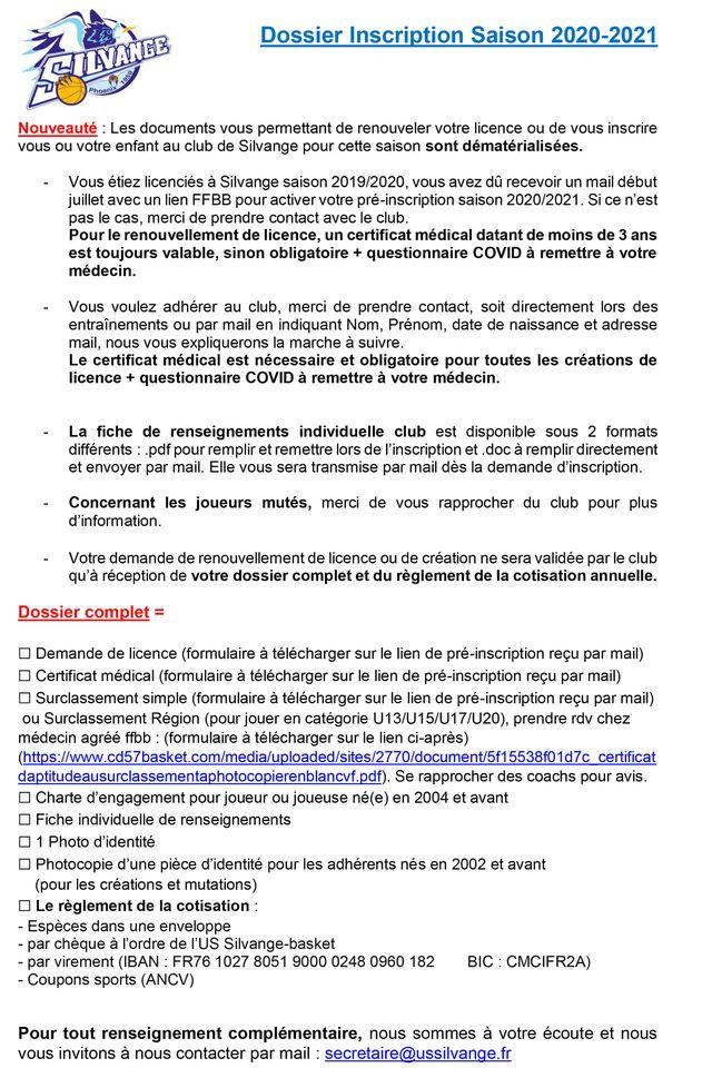 Mode d'emploi licence basket 2020/2021